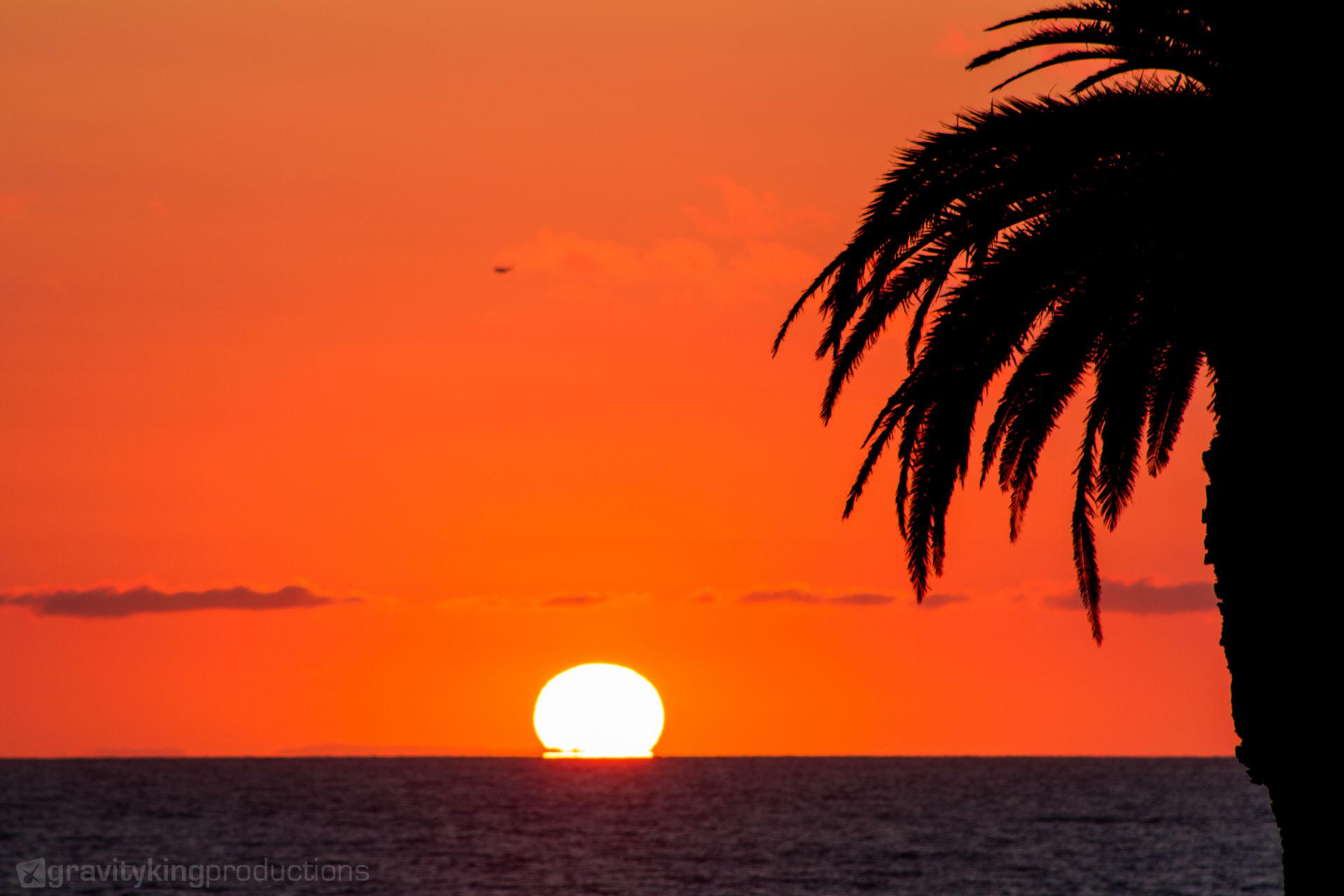 Sunset at Moonlight Beach in Encinitas, CA.