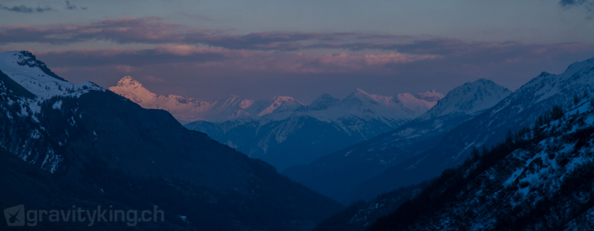 Serre Chevalier alpenglow, French Alps
