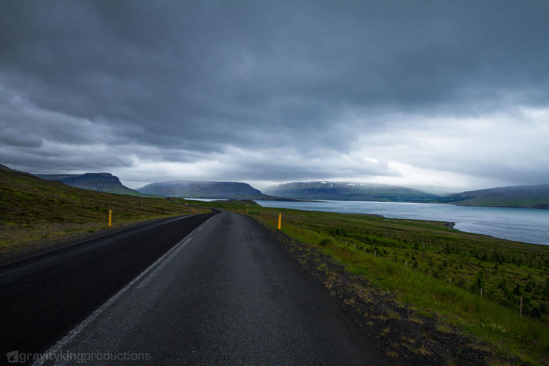 A look inside the Hvalfjörður, on of countless fjords in Iceland.