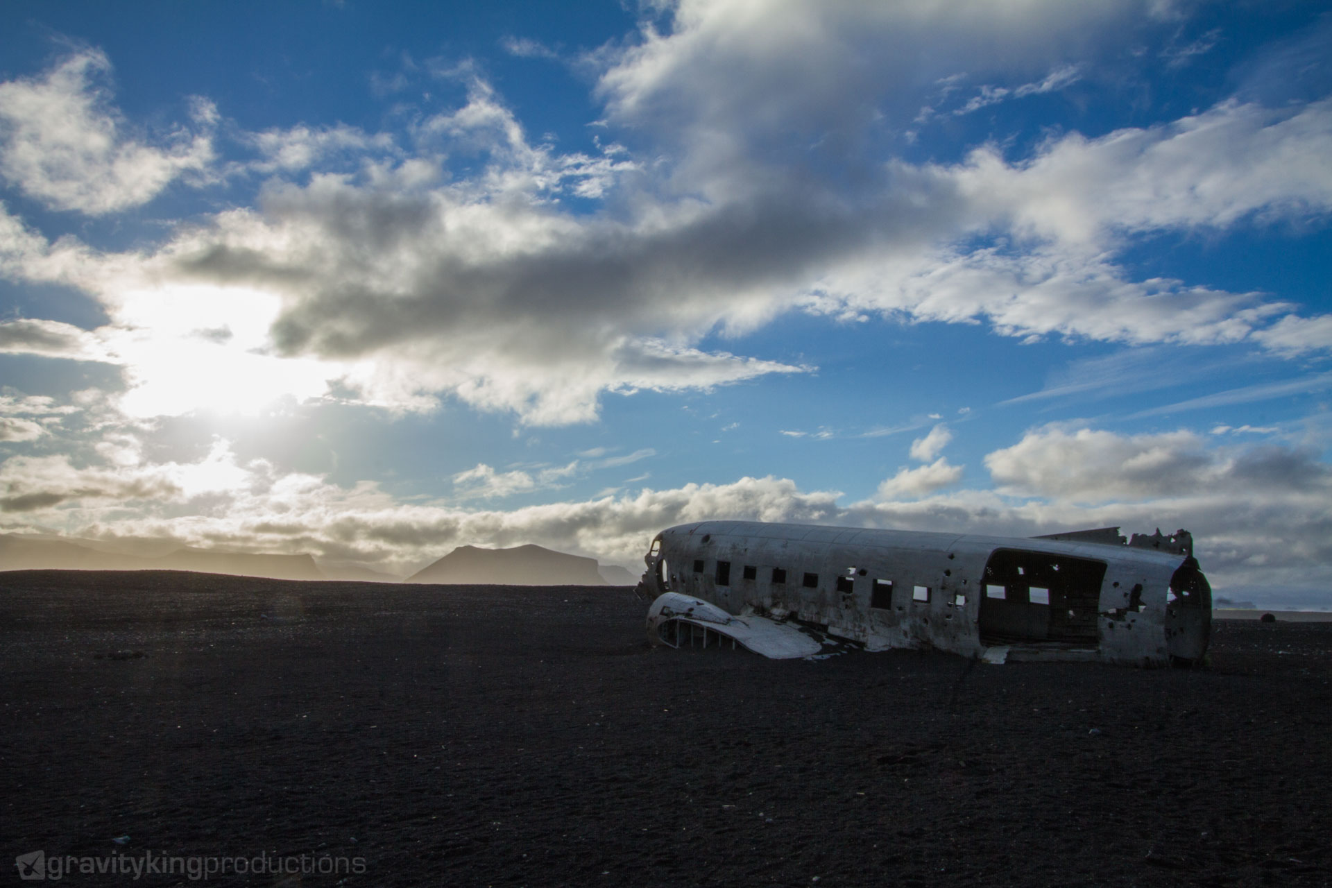 The famous DC-3 wreck on the south coast of Iceland. I wonder where the wings are?